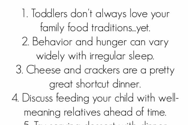 10 Things to Remember About Toddlers and Holiday Food