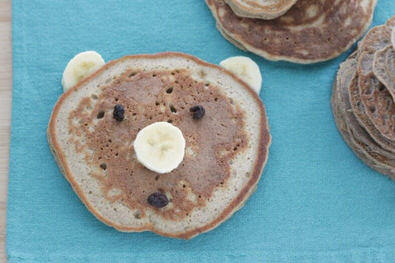 fun bear vegan banana pancakes