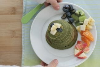 Yummy Banana Spinach Pancakes for Kids