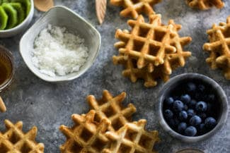Mini Vanilla Whole-Wheat Waffles