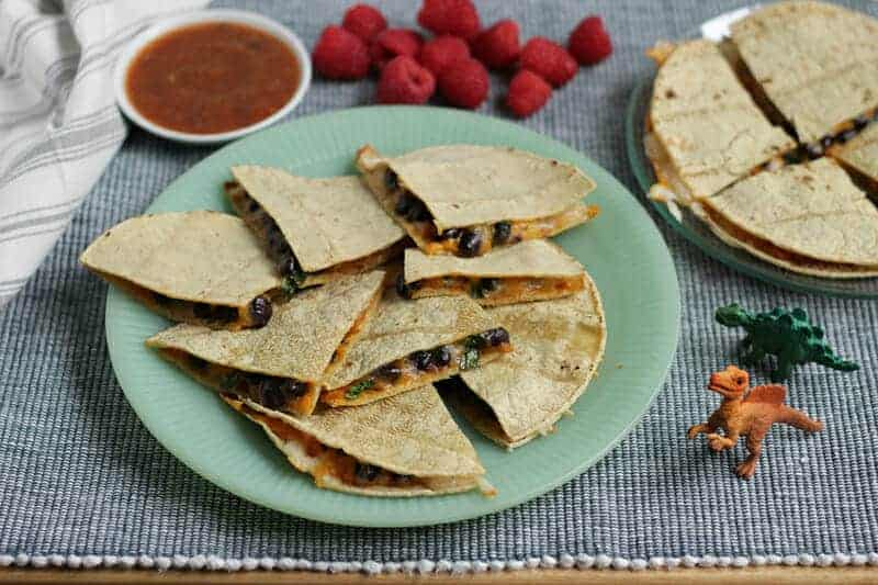 sheet pan quesadillas with black beans