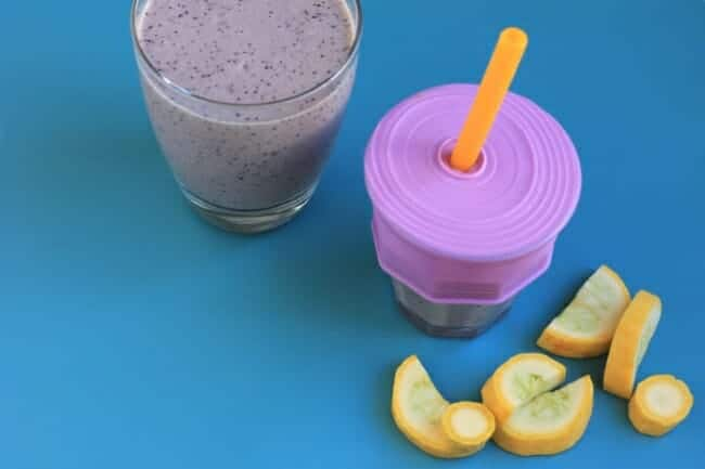 Simple Blueberry Smoothie with Summer Squash