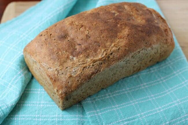 No-Knead Whole Wheat Flax Bread