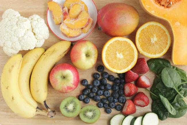 fruits and veggies for kid smoothies