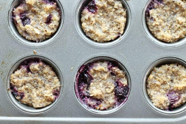blueberry muffin baked oatmea