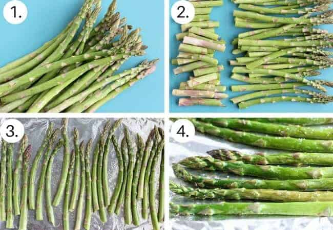 How to cook asparagus in the oven step by step process