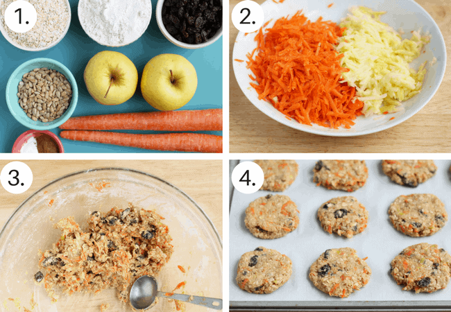 How to make healthy oatmeal cookies step by step process