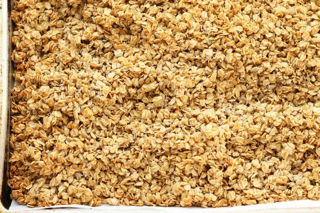 homemade granola with applesauce