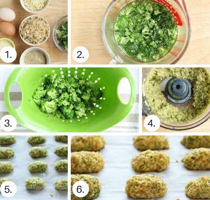 How to make homemade broccoli tots step by step process