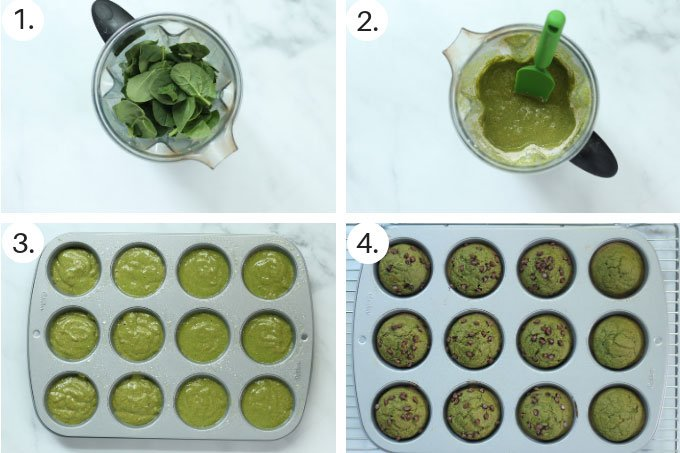 how to make spinach muffins step by step