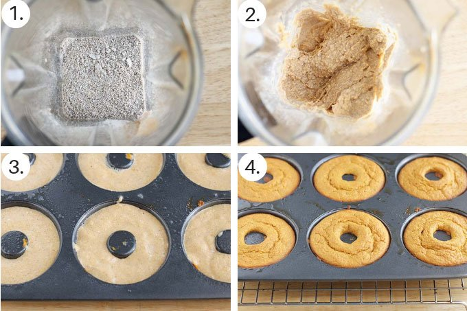 how to make baked donuts with sweet potato step by step