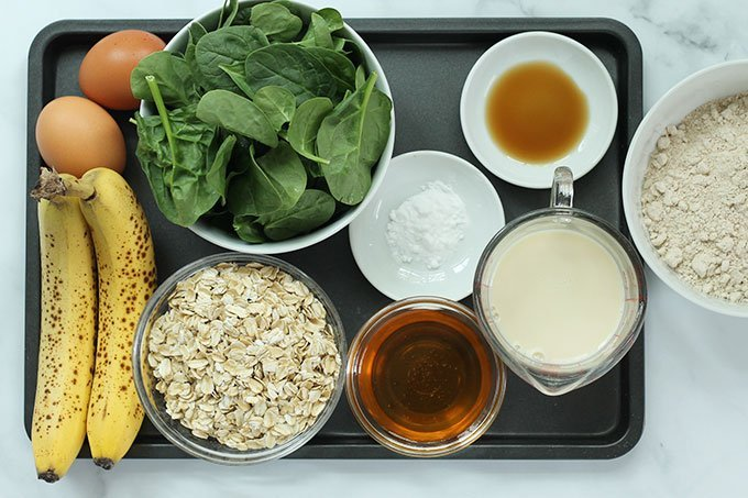 Ingredients in Banana Spinach Muffins