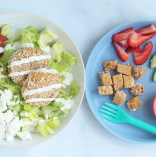 salmon-cakes-on-parent-and-child-plate
