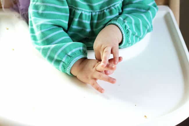 toddler throwing food
