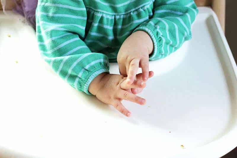 toddler throwing food