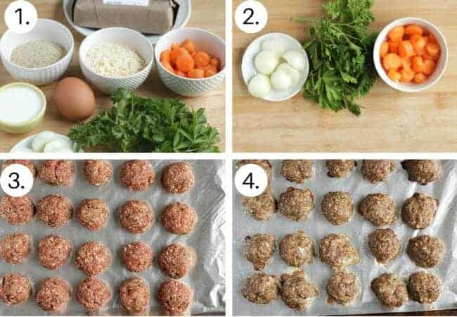 How to make healthy meatballs Step by Step process