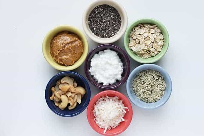 7 tiny bowls of healthy add ins for smoothies
