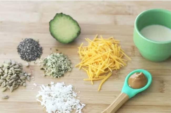 healthy-fat-foods on cutting board
