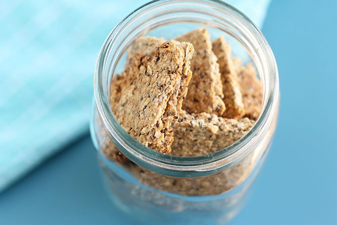 homemade granola bars in storage container