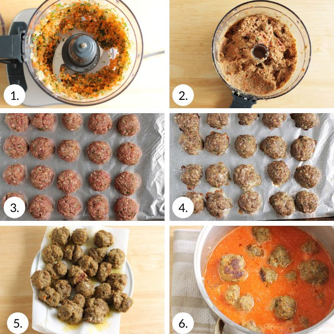 how to make healthy meatballs step by step