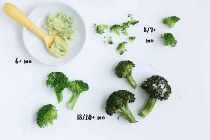 variety of shapes of broccoli on cutting board
