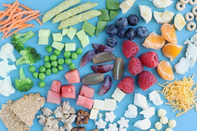 finger-foods-for-kids-on-blue-background