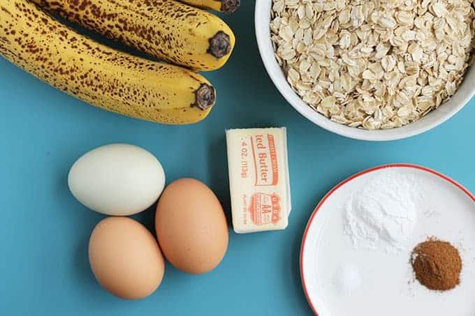 ingredients in healthy banana bread