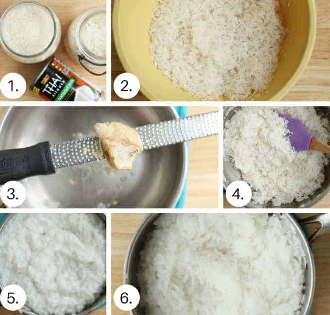 how to make coconut rice step by step