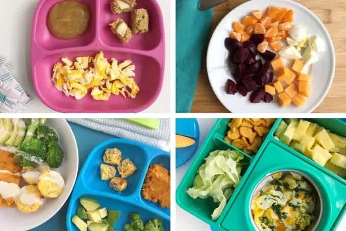 toddler lunch ideas with eggs in grid