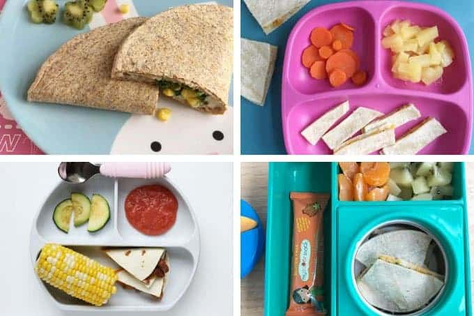 lunches for kids with quesadillas