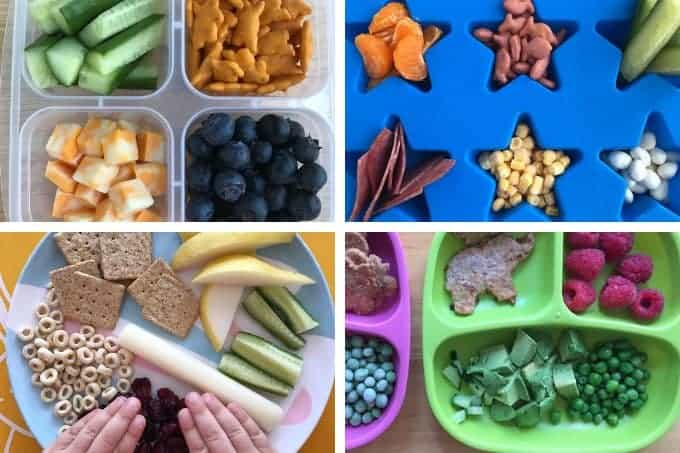 healthy lunches for kids with snack plates