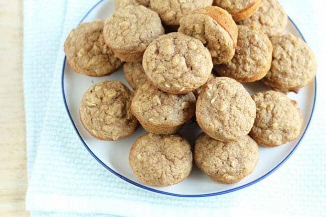 Whole Grain Mini Applesauce Muffins