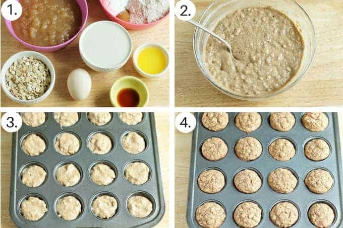 how to make applesauce muffins step by step