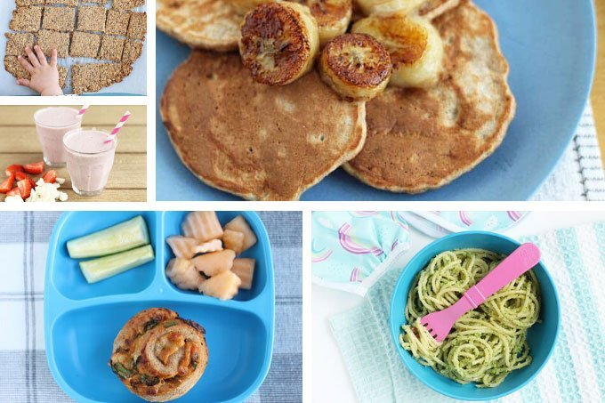 healthy kids meals in grid with 5 images