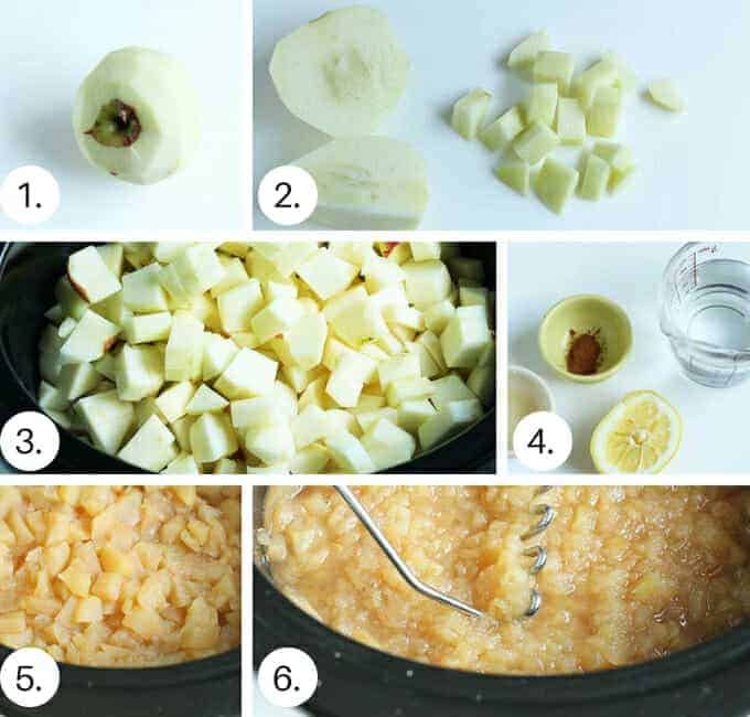 how to make crock pot applesauce step by step process