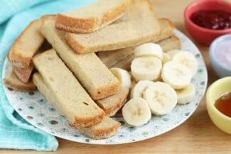 Baked Banana French Toast Sticks