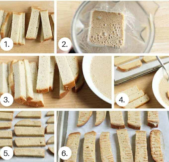 how to make french toast sticks step by step process