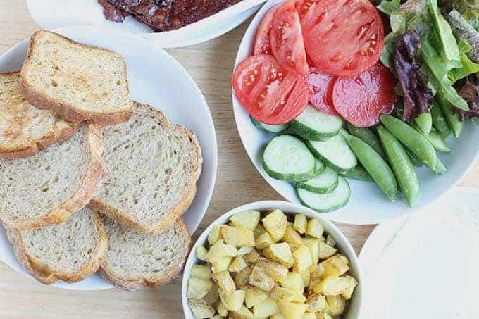 DIY sandwich family dinner
