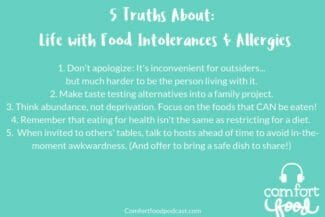 Podcast Episode #8: Family Meals with Food Intolerances and Allergies