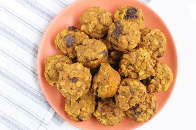 Mini Pumpkin Chocolate Chip Muffins with Whole Grains