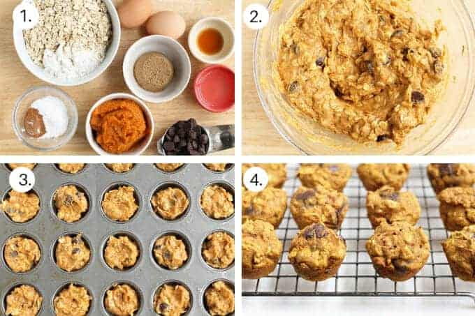how to make pumpkin chocolate chip muffins step by step 1