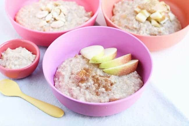 overnight steel cut oats with apples