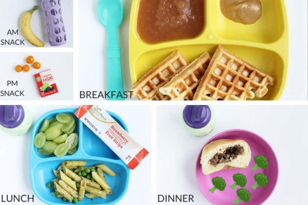 daily toddler meals and snacks in grid