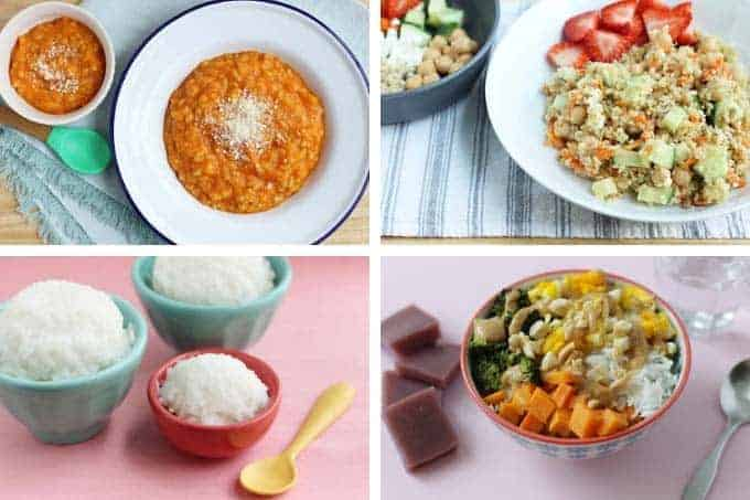 healthy family meals with grains