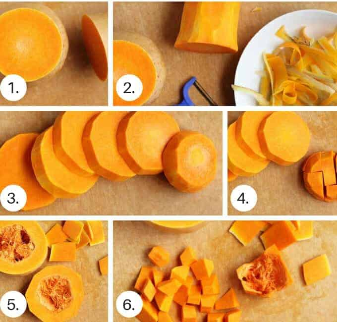 how to cut a butternut squash step by step
