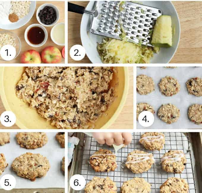 how to make apple cookies step by step