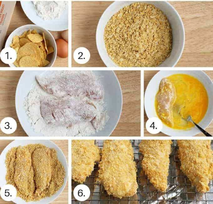 how to make crispy chicken tenders step by step