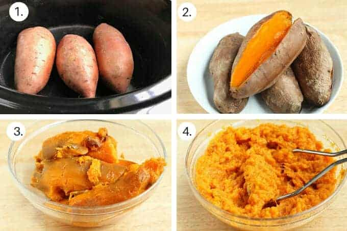 how to make crock pot sweet potatoes step by step