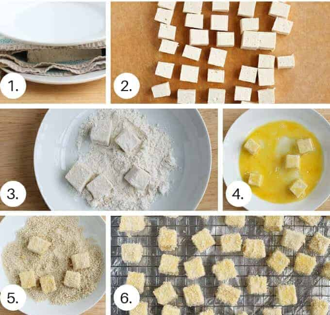 how to make breaded tofu nuggets step by step