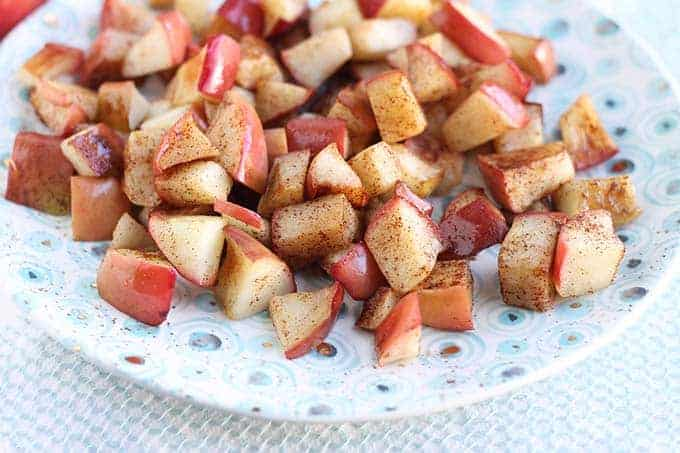 sauteed apples on a plate